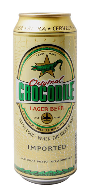 Crocodile Lager Beer 5,2% Vol. 24 x 50 cl Dose Schweden