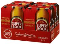 Super Bock Lager 5,4% Vol. Portugal 24 x 33 cl EW Flaschen