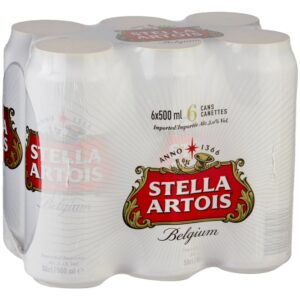 Stella Artois 5% Vol. 24 x 50 cl Dosen Belgien