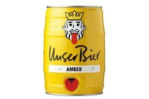 Unser Bier Amber 5% Vol. 5 L Original Party-Fässli ( nur 30 Tage Mindesthaltbarkeit Datum )