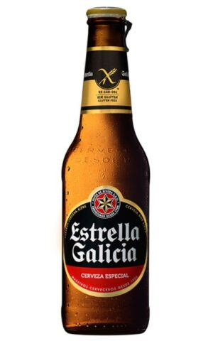 Estrella Galicia Glutenfreies Bier 5,5% Vol. 24 x 33 cl EW Flasche Spanien