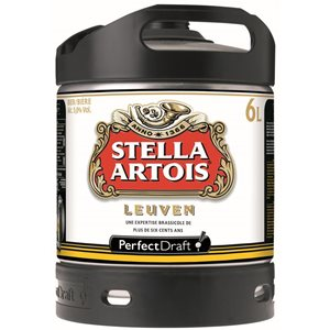 Stella Artois Lager Perfect Draft 6 L Fässli ( für Philips Perfect Draft-Anlage )