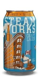Steamworks Craft Lager 5,0% Vol. 24 x 36 cl Kanada