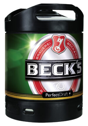 Beck's Bier Perfect Draft 6 Liter Fässli ( für Philips Perfect Draft-Anlage )