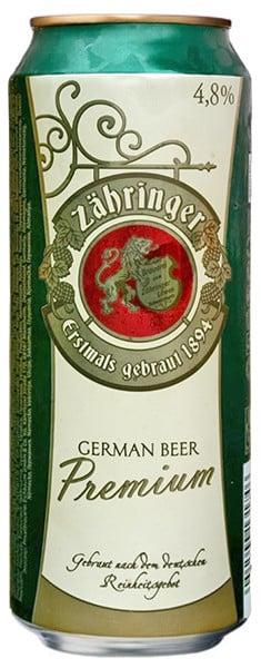 Zähringer Premium Bier 4,8% Vol. 24 x 50 cl Dose