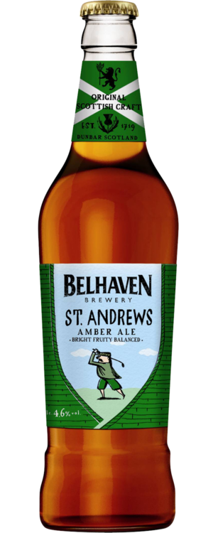 Belhaven St. Andrews Amber Ale 4,6% Vol. 12 x 50 cl Scotland