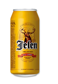 Jelen Pivo Bier 5% Vol. 24 x 50 cl Dose Serbien