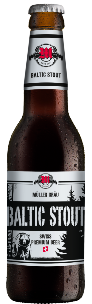 Müllerbräu Baltic Stout Swiss Premium Beer 6,2% Vol. 24 x 33 cl