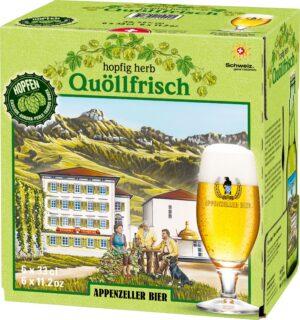 Appenzeller Quöllfrisch Hopfig herb ( 4 Karton à  6 x 33 cl )