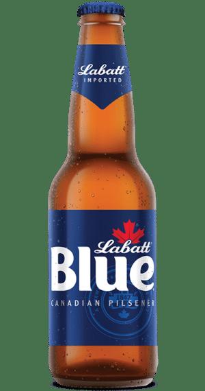 Labatt Blue Canadien Pilsener 5,0% Vol. 6 x 34,1cl EW Flasche Kanada ( so lange Vorrat )