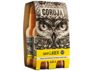 Coruja Hoppy Lager 4,5% Vol. 24 x 33 cl Portugal