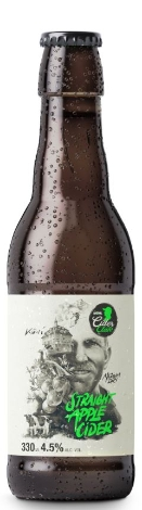 Möhl Straight Apple Cider Medium Dry 4,5% Vol. 24 x 33 cl EW Flasche