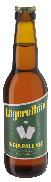 Lägere Bräu India Pale Ale IPA 7,1% Vol. 20 x 33 cl EW Flasche