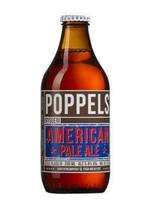 Poppels American Pale Ale °Bio° 5,4% Vol. 24 x 33 cl EW Flasche Schweden