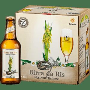 Appenzeller Birra da Ris / Reisbier Glutenfreies Bier 5% Vol. 24 x 33 cl