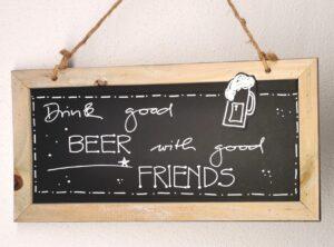 Bier Spruch Tafel ( Text frei wählbar )