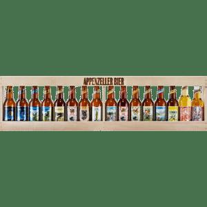 1 Meter Bierkiste mit Appenzeller Bier 16 x 33 cl