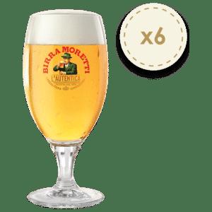 Birra Moretti Biergläser 6 Stück mit je 30 cl