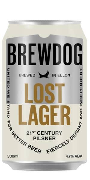 BrewDog Lost Lager 4.7% Vol. 12 x 33 cl Schottland