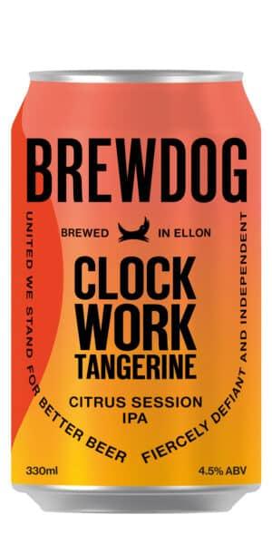 BrewDog Clockwork Tangerine 4.5% Vol. 24 x 33 cl Dose Schottland