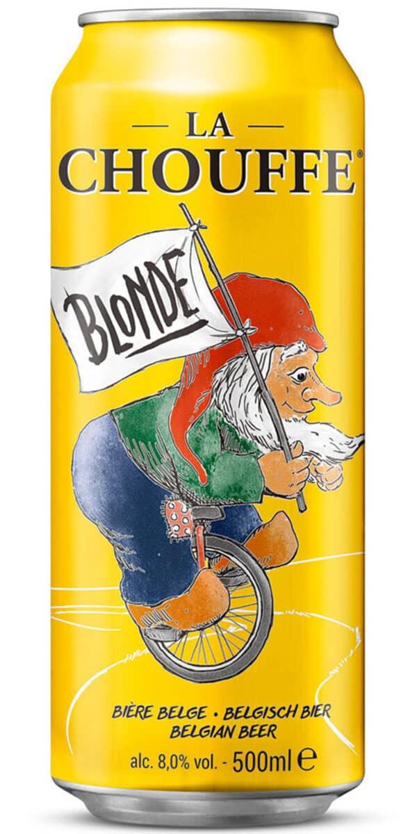 La Chouffe Blonde 8% Vol. 12 x 50 cl Dose Belgien