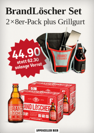 Appenzeller BrandLöscher Set mit Grillgurt ( so lange Vorrat )
