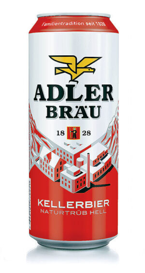 Adler Bräu Kellerbier hell 4,8% Vol. 24 x 50 cl Dose