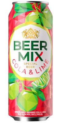 Obolon Beermix Cola & Lime 2,6% Vol. 24 x 50 cl Dose Ukraine
