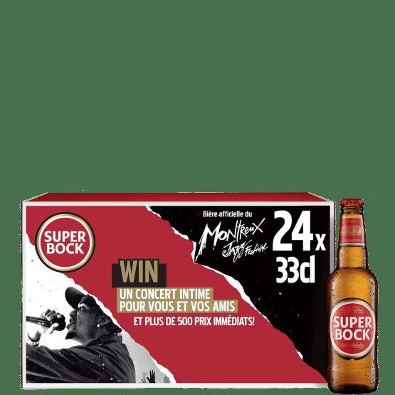 Super Bock Lager 5,2% Vol. 24 x 33 cl Portugal mit Wettbewerb