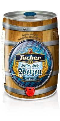 Tucher Hefeweizen Hell 5,2% Vol. 2 x 5 Liter Partyfass