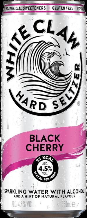 White Claw Hard Seltzer Black Cherry 4,5% Vol. 24 x 33 cl Dose