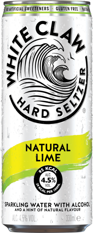 White Claw Hard Seltzer Natural Lime 4,5% Vol. 24 x 33 cl Dose