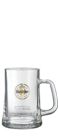 Warsteiner Chope Bierkrug 6 Stück mit 1 Liter
