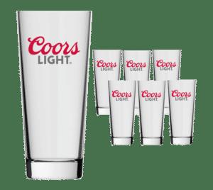 Coors Light Biergäser 12 Stück mit je 30 cl