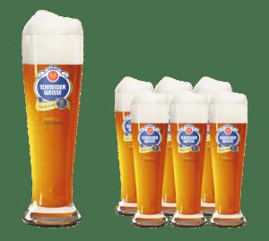 Schneider Weisse 12 Bierstangen Gläser mit je 50 cl