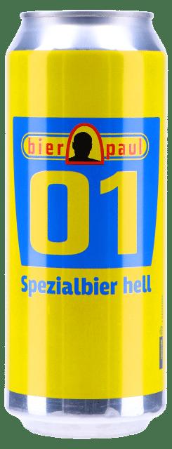 Bier Paul hell 01 5,2% Vol. 24 x 50 cl Dose