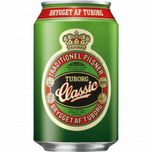 Tuborg Classic Pilsner 4,6% Vol. 24 x 33 cl Dose Dänemark